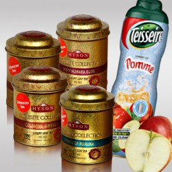 Set 4 Luxury Leaf Tea + 1 Teisseire Apfelsirup