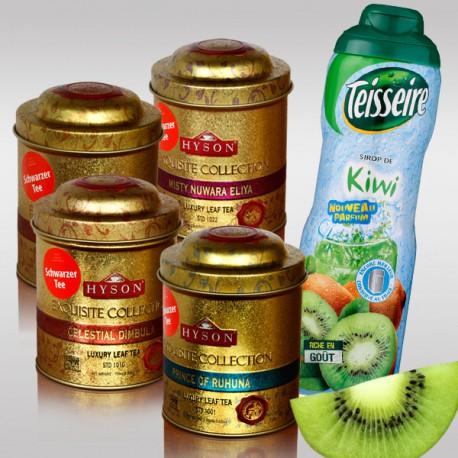 Набор 4 Luxury Leaf Tea + 1 киви сироп от Teisseire