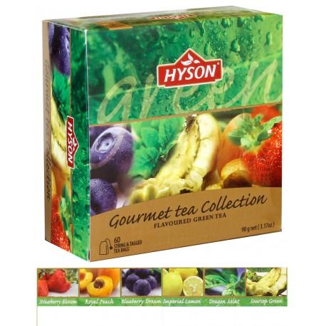 """Коллекция зеленого чая """"Гурман"""" 6 x 10 пакет. x 1,5 г"""
