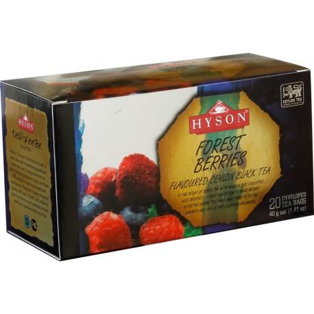 Лесная ягода, черный чай от Хайсон, 20 пакетиков x 2г