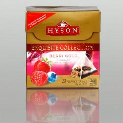 Berry Gold Schwarzer Tee, Hyson Exquisite Collection, 20 Pyramidenbeutel x 2g