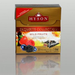 Wild Fruits Schwarzer Tee, Hyson Exquisite Collection, 20 Pyramidenbeutel x 2g