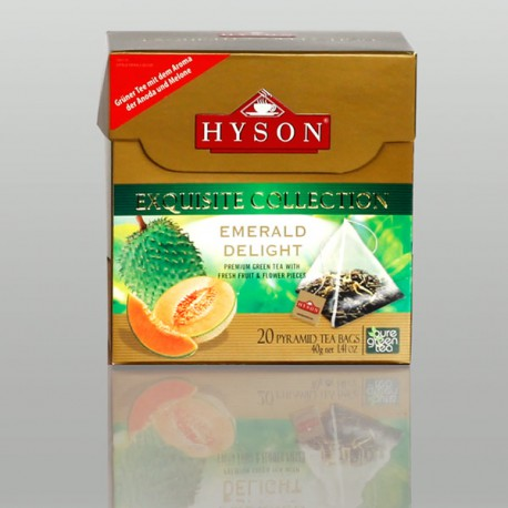 Emerald Delight Grüner Tee, Hyson Exquisite Collection, 20 Pyramidenbeutel x 2g