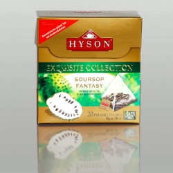 Soursop Fantasy Grüner Tee, Hyson Exquisite Collection, 20 Pyramidenbeutel x 2g