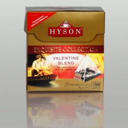 Valentine Blend Schwarzer Tee, Hyson Exquisite Collection, 20 Pyramidenbeutel x 2g