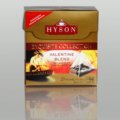 Valentine Blend Schwarzer Tee, Hyson Exquisite Collection, 20 Pyramidenbeutel x 2g