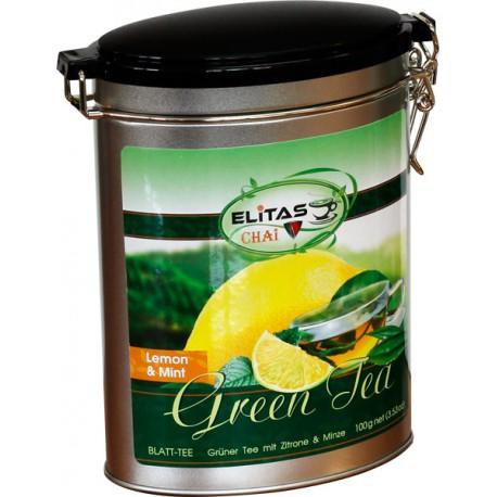 Grüntee mit Zitrone und Minze - ELITAS CHAI, 100 g
