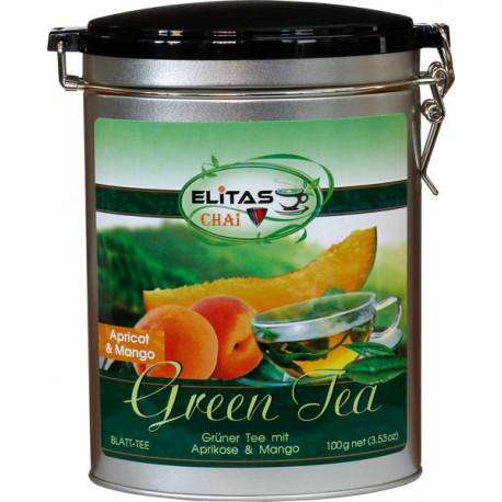 Grüntee mit Aprikose und Mango - ELITAS CHAI, 100 g